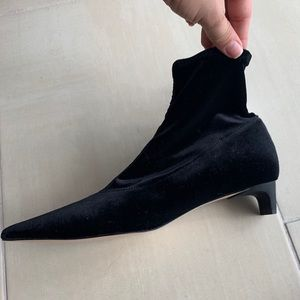 Zara velvet booties new with tags